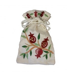 Embroidered Spice Bag - Pomegranates
