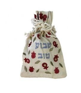 """Embroidered Spice Bag - """"Shavuah Tov"""""""