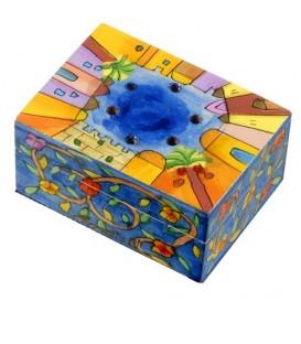 Spice Box - Painted - Jerusalem/Flowers