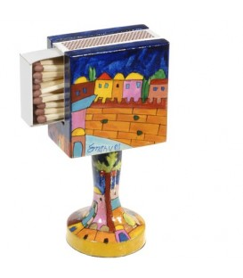 Matchbox Holder + Stand - Jerusalem