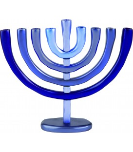 Hanukkah Menorah - 9 Branches- Blue