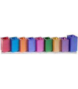 Hanukkah Menorah - Cubes - Multicolor