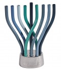 Hanukkah Menorah - Flame - Blue