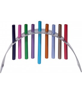 Hanukkah Menorah - Hovering - Multicolor