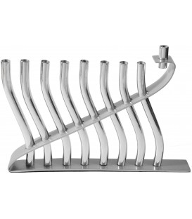 "Hanukkah Menorah - ""Sticks"" - Aluminium Matt Shiny"