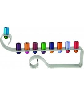 Hanukkah Menorah - Curl - Multicolor