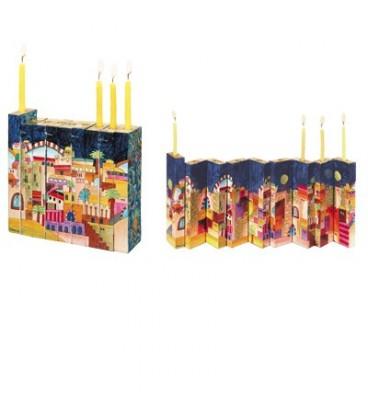 Accordion Hanukkah Menorah - Jerusalem