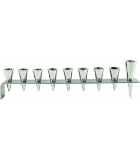 Hanukkah Menorah - Metal Strip + Cone - Natural