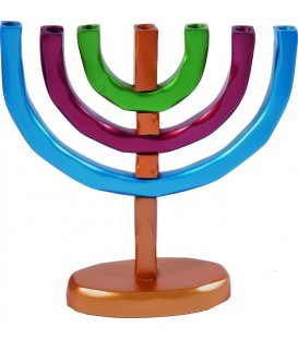 Menorah 7 Branches - Multicolor