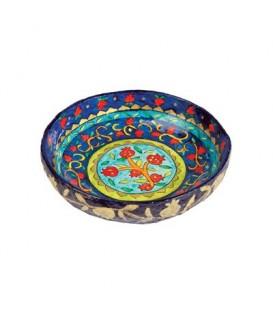 Paper Mache - Small Bowl - Blue Background