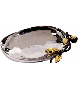 Medium Bowl - Stainless Steel - Pomegranates