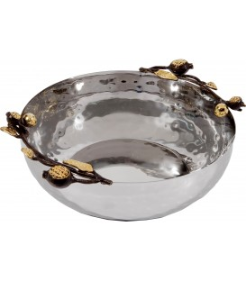 Large Bowl - Stainless Steel - Pomegranates