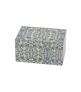 Medium Wooden Box - Pomegranates- Blue