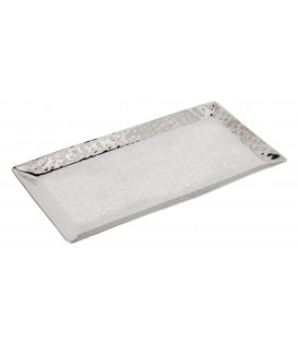 Tray - Stainless Steel + Hammer Work 24*12 cm