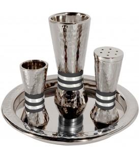 Havdallah Set - Hammer Work - Rings - Black