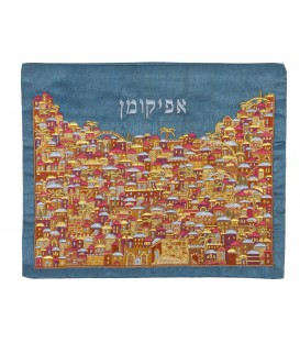 Afikoman Cover - Full Embroidery - Jerusalem Multicolor
