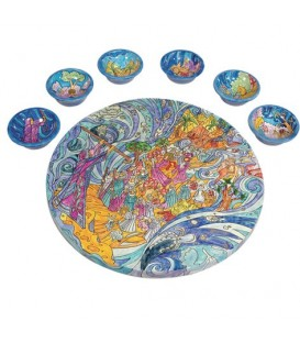 Seder Plate + Six Bowls - Exodus