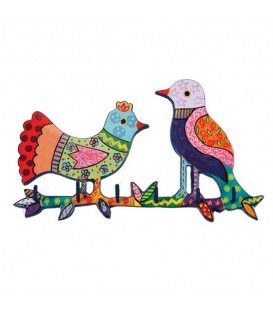 Key Holder - Hand Painted - Birds