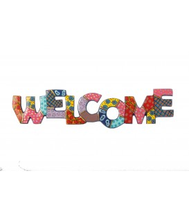 Metal Wall Hanging - Welcome - English