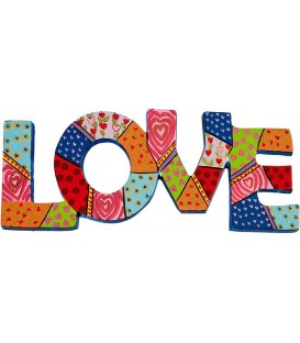 Metal Wall Hanging - Love - English
