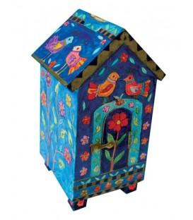 Tzedakah Box - House Shape - Birds