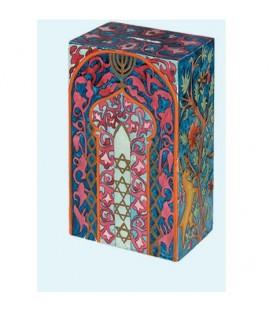 Rectangular Tzedakah Box - Tree of Life