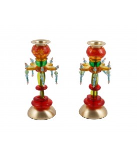 Candlesticks - Polyester - Medium Flower