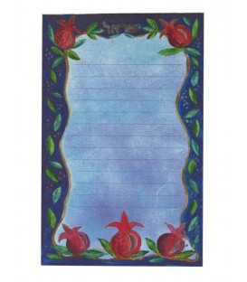 Notebook - Large + Magnet- Pomegranates