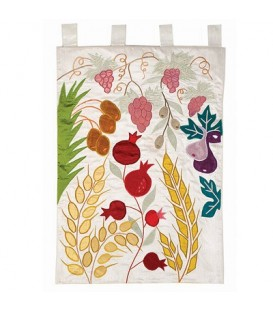 Wall Hanging - XL- Seven Species -White