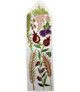 Bookmark - Embroidered - Seven Species