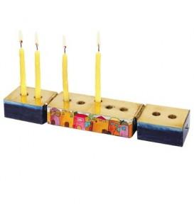 Hanukkah Menorah + Shabbat Candlesticks - Jerusalem