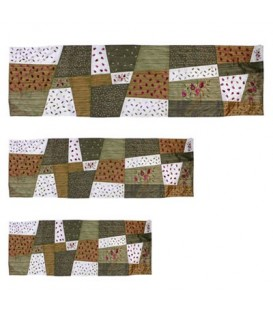 """Runner - Applique`d + Embroidery 40"""" ( 100 CM ) Gold"""