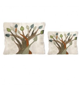 Tfilin Bag - Raw Silk - Tree Of Life